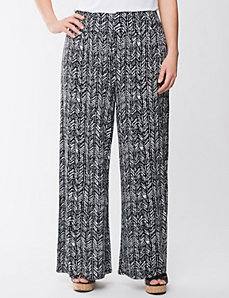 Tribal print soft knit pant