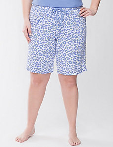Animal print Bermuda sleep shorts