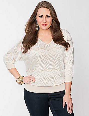 Chevron dolman sweater