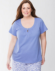 Short sleeve sleep top