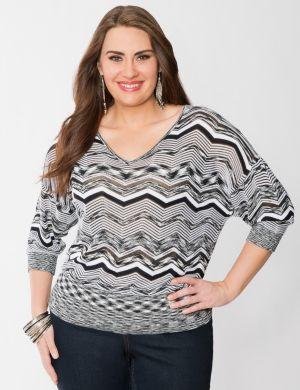 Chevron dolman sweater