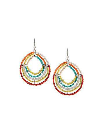 Seed bead teardrop earrings by Lane Bryant