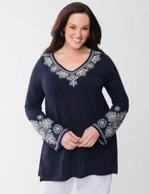 Lane Collection Embroidered Tunic