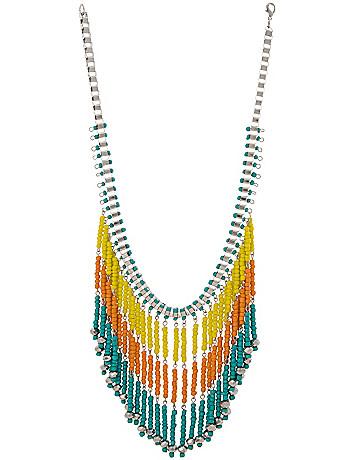 Beaded fringe necklace by Lane Bryant