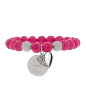 Semi precious bracelet with heart charm by Lane Bryant