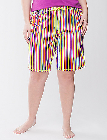 Striped Bermuda sleep short
