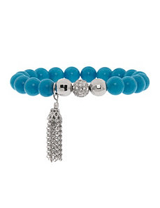 Semi precious bracelet with tassel by Lane Bryant