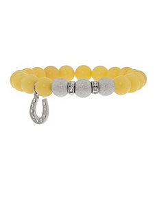 Semi precious bracelet with horseshoe charm by Lane Bryant