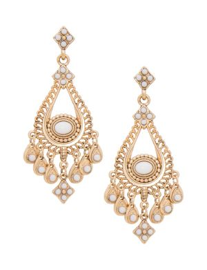 Stone accent chandelier earrings by Lane Bryant