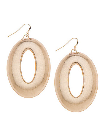 Oval drop earrings by Lane Bryant