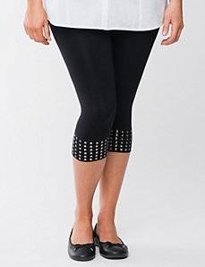 Full Figure Control Top Capri Legging with studs by Lane Bryant