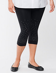 Plus Size Control Top Capri Legging with Mini Studs by Lane Bryant