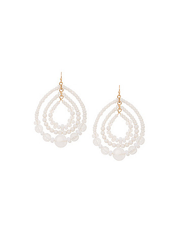 Lane Collection bead teardrop earrings