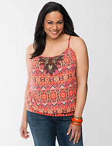 Embellished tribal cami