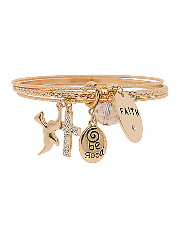 Faith charm bracelet by Lane Bryant