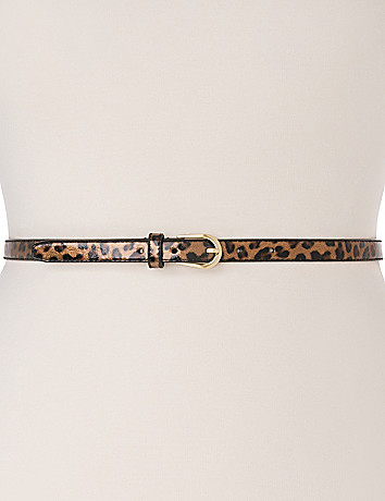 Patent animal skinny belt