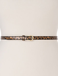 Patent animal skinny belt by LANE BRYANT