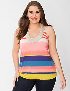 Striped hardware tank by Lane Bryant