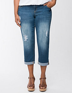 Rolled cuff weekend jean