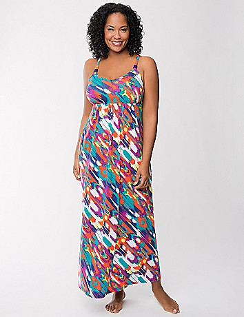 Tru to You island print maxi lounger