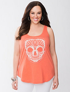 Crochet Skull Tank by Lane Bryant
