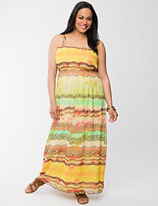 Western stripe maxi dress by LANE BRYANT