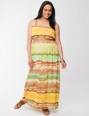 Western stripe maxi dress