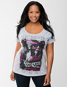 Embellished rock & roll tee by Lane Bryant