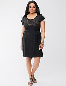 Embellished tee dress by Lane Bryant