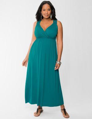 Macrame maxi dress