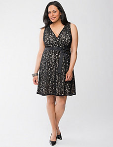 Full Figure Lace Dress by Lane Bryant