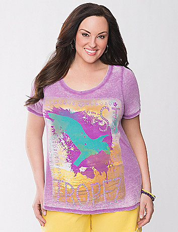 St. Tropez graphic tee by Lane Bryant