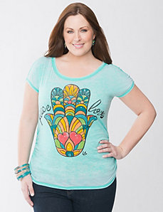 Peace & love burnout tee