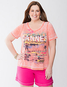 Cannes sequin tee by LANE BRYANT