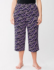Zebra cropped sleep pant by Cacique
