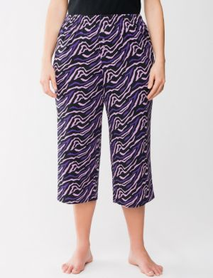 Zebra cropped sleep pant