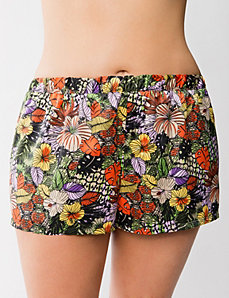 Charmeuse floral sleep short