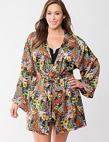 Charmeuse floral robe