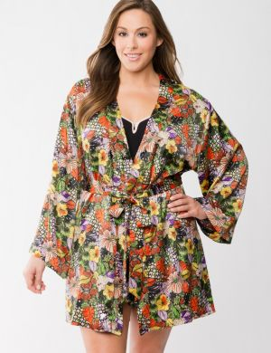Tru to You charmeuse floral robe