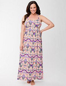 Printed sleep maxi lounger by Cacique