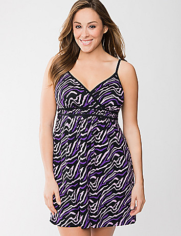 Colored zebra chemise