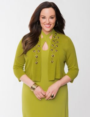 Lane Collection embellished shrug