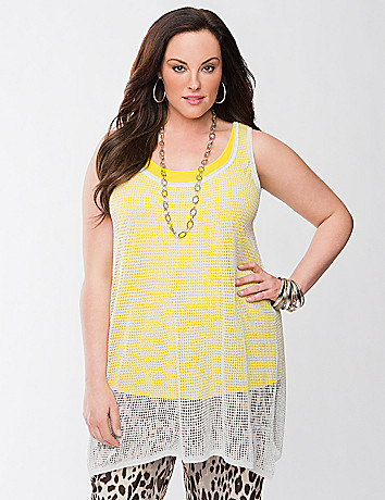 Lane Collection shark bite shimmer tunic