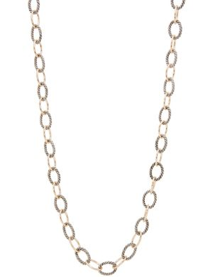 Two tone chain necklace by Lane Bryant