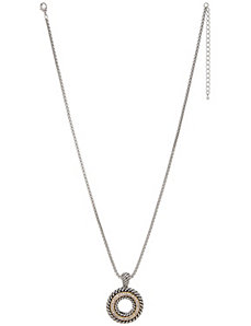 Braided pendant necklace by Lane Bryant