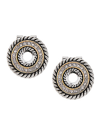 Braided rhinestone earrings by Lane Bryant