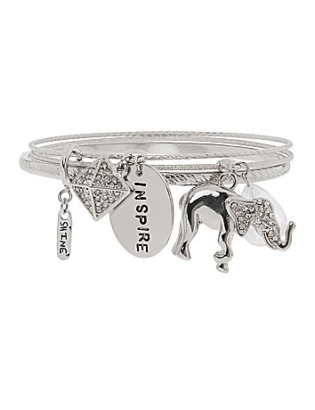 Elephant charm bracelet by Lane Bryant