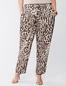 Lane Collection silky leopard pant by LANE BRYANT