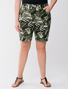 Lane Collection printed Bermuda short by LANE BRYANT