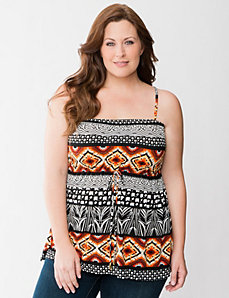 Tribal print tube top by Lane Bryant
